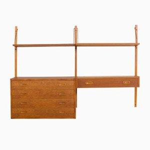 Danish Oak Wall Unit with Dresser and Console by Preben Sorensen