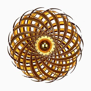 Veneria Wandlampe aus satiniertem Nussholz