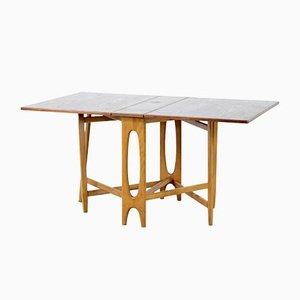Mid-Century Teak Drop-Leaf Dining Table, 1960s