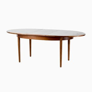 Tavolo da pranzo Oblong Mid-Century allungabile in teak, anni '60