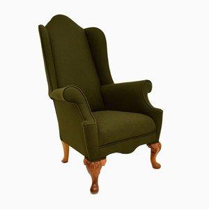Antique Walnut Wingback Armchair