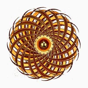 Veneria Wandlampe aus Kirschholz