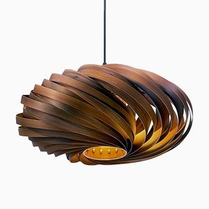 Veneria Smoked Satin Walnut Hanging Lamp