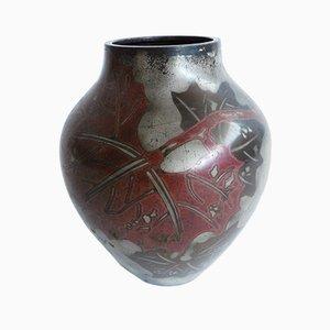 Art Nouveau Vase aus Metall von MF Ikora