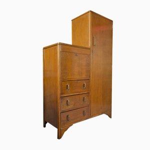Edwardian Solid Oak Studs Hallway Cupboard