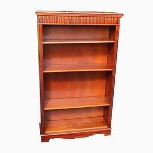 Mahogany Open Bookcase with 4 Shelves, 1960s