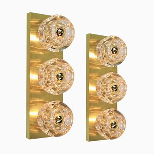 Crystal Glass Wall Sconces by Sciolari for Peill & Putzler, Set of 2