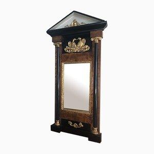 Empire Period Black Walnut Wall Mirror, 1800s