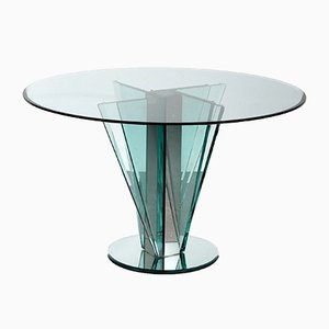 Nile Glass Table Attributed to Pietro Chiesa for Fontana Arte, Italy, 1970s