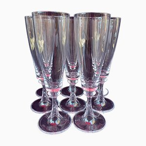 Crystal Model Fleurus Champagne Flutes from Daum, 1970s, Set of 8