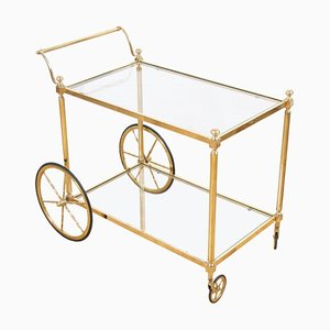 French Brass and Glass Drinks Trolley, 1960s