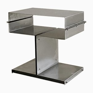 Steel Side Table by Francois Monnet for Kappa