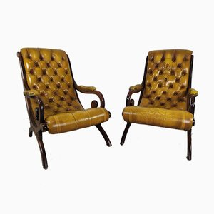 English Chesterfields Chairs, Set of 2