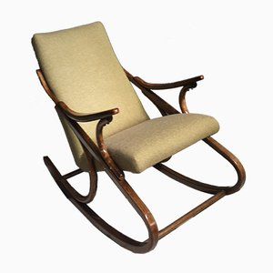 Green-Yellow Rocking Chair from TON, 1960s