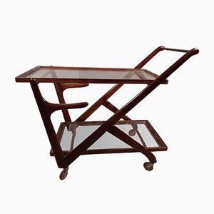Wooden & Glass Trolley from Cassina, 1950s