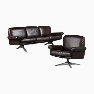 D31 Sofa with Lounge Chair from De Sede, Switzerland, 1960s, Set of 2