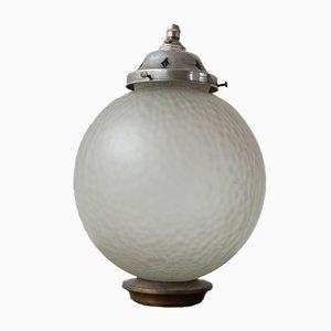 Lampe à Suspension Mid-Century en Verre Diffusé (1)