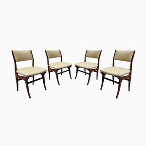 Wooden Chairs by Melchiorre Bega for Falegnameria Parmeggiani Marino Bologna, Set of 4