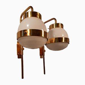 Messing Modell Delta Wandlampen von Sergio Mazza für Artemide, 2er Set