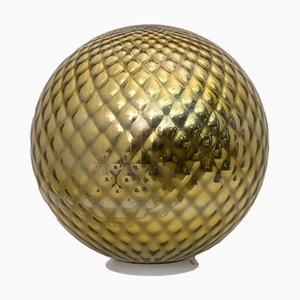 Mid-Century Modern Italian Murano Glass & Gold Diamond Table Lamp, 1970s