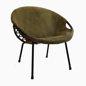 Mid-Century Circle Balloon Chair by Lusch Erzeugnis for Lusch & Co, 1960s