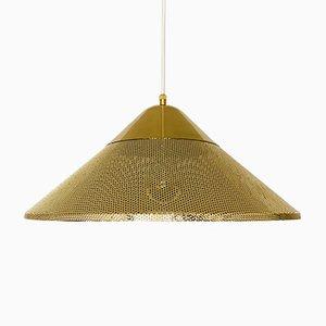 Golden Metal Pendant Lamp, 1970s