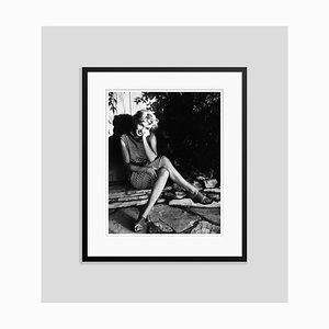 Stampa Marilyn Monroe argentata in resina nera di Baron