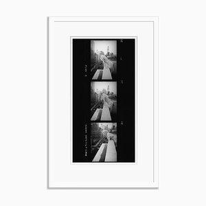 Marilyn Monroe Contact Strip Silver Gelatin Resin Print Framed in White by Ed Feingersh