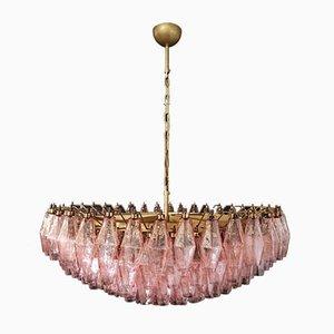 185 Pinker Poliedri Murano Glas Kronleuchter