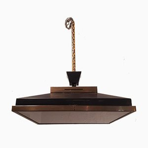 Lampada da soffitto in ottone e ferro di Stilnovo