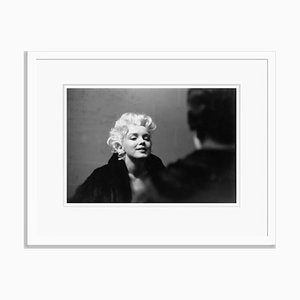 Marilyn Takes It to the Streets Silver Gelatin Resin Print Framed in White by Ed Feingersh