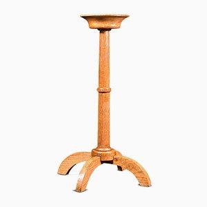Antike englische Cotswold Schule oder Arts & Crafts Stil Torchere oder Kerzenhalter aus Eiche