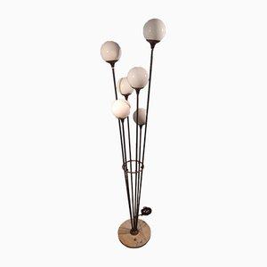 Model Alberello Iron & Brass Floor Lamp from Stilnovo