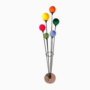 Modell Alberello Stehlampe aus Eisen, Messing & Marmor von Stilnovo