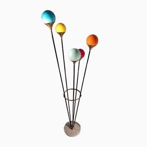 Iron, Brass & Marble Model Alberello Floor Lamp from Stilnovo