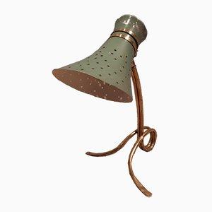 Lampe de Bureau en Laiton Vert, 1950s