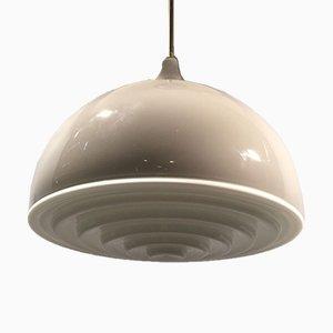 Graue Milchglas Deckenlampe von Alessandro Pianon für Vistosi