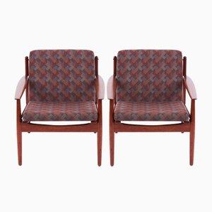 Dänischer Mid-Century Sessel & Chaise Longue Set von Arne Vodder für Glostrup, 1960er, 2er Set