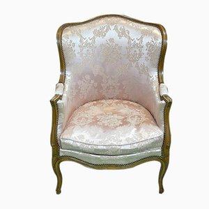 Louis XV Bergere & Beech Lounge Chair, 1950s