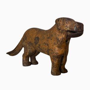 Perro cascanueces inglés de hierro fundido, década de 1900