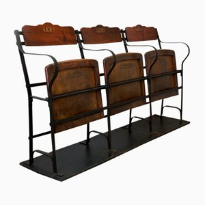 3-Seater Cinema Bench from Pèghaire, Paris, 1890s