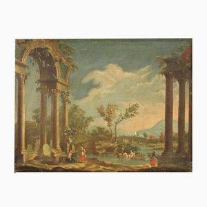 Landschaftsmalerei, Öl auf Leinwand, 20. Jahrhundert