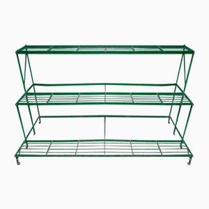 Green Metal Plant Shelves