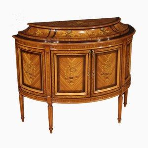 Louis XVI Style Inlaid Demilune Sideboard
