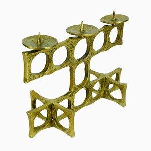 Brutalistischer Mid-Century Kerzenhalter aus Bronze, 1960er