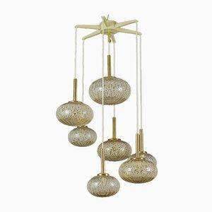 Vintage Seven-Light Cascading Pendant Chandelier