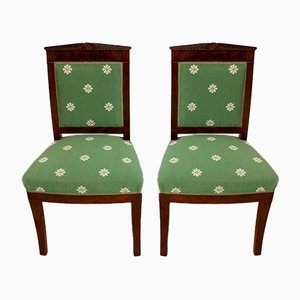 Empire Period Chairs in Mahogany, Early 19th Century, Set of 2