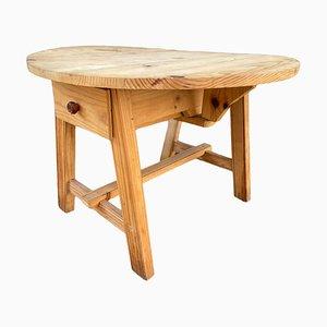 Runder Tisch mit Rustic Flaps & 2 Schubladen
