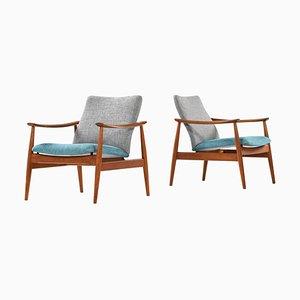 Model 138 Easy Chairs by Finn Juhl for France & Son, Denmark, Set of 2