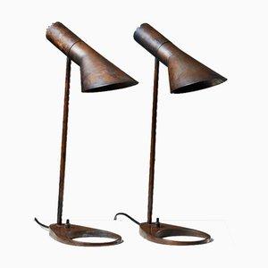 Lampes de Bureau par Arne Jacobsen pour Louis Poulsen, Denmark, 1957, Set de 2
